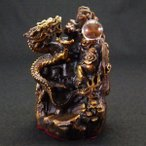 金龍 上山 龍の置物 皇帝の五爪龍 風水 開運 銅製