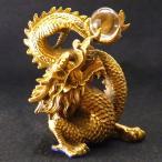 風水 銅製 古代 勝龍 金 龍の置物 皇帝の五爪龍  風水