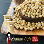 大分県産大豆 規格外 大粒 5kg×2(計10kg)〔チャック付〕 令和1年産 「OITA30CP_2020_04」