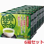 オリヒロ 賢人の緑茶 7g×30本×6箱(難消化性デキストリン&GABAの2つの機能性関与成分を配合した機能性表示食品)