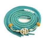 振袖用 おしゃれ 正絹 帯締め パールビーズ飾り付き ブルー hs-97