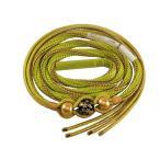 振袖用 おしゃれ 正絹 帯締め 飾り玉とゴールドビーズ飾り付き 日本製 黄緑 hs-125