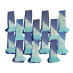 振袖用 青と水色のぼかし 金加工絵柄入り 正絹 四ッ巻 絞り 帯揚げ 単品 全14柄 ah-146