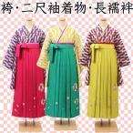 ジュニア着物 二尺袖 着物 袴 長襦袢 セット 定番人気の矢絣柄 jk-12
