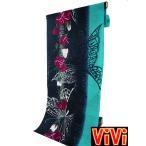 反物 ViVi ビビ 変わり織り 女性用 ラメ入り ゆかた 反物 浴衣 vi-005 紺とブルー