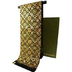 龍村美術織物 西陣袋帯 七宝華芳文 本袋帯 六通柄 たつむら錦 袋帯 黒