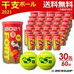 ダンロップ DUNLOP テニスボール FORT フォート 干支ボール 2021年「丑」 [2個入] 1箱 30缶/60球  DFE21ETOYL2DOZ 11月下旬発売予定※予約