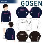 ゴーセン GOSEN テニスウェア 2017年春企画Tシャツ 『プラクティス ロゴ』長袖 J17P07 「2017SS」『即日出荷』「2017新製品」