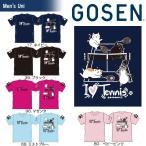 テニスウェア ユニセックス ゴーセン GOSEN 2018春企画 Tシャツ pochaneco I LOVE TENNIS NPT01 2018SS 2月下旬発売予定※予約