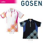 Gosen ゴーセン  レディース   シャツ  T1403  30 ホワイト