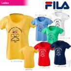 『即日出荷』FILA(フィラ)「Women's レディース グラフィックTシャツ VL1305」テニスウェア「2015FW」