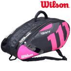 「2017モデル」Wilson(ウイルソン)「TEAM J 6 PACK BKPK(チームジャパン ラケットバッグ 6本入)WRZ641606」テニスバッグ