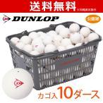 「ネーム入れ」DUNLOP SOFTTENNIS BALL ダンロップ ソフトテニスボール 公認球 バスケット入 10ダース 120球  軟式テニスボール「部活応援キャンペーン対象」