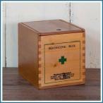 くすり箱 薬箱 救急箱 小物入れ 小物収納 小物収納ケース 道具箱 道具入れ ウッドボックス 木箱 整理 収納 木 木製 パイン材 スライド式 キューブ型 雑貨 小物