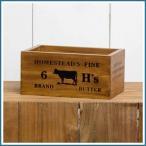 H's BUTTER BOX 木箱 整理箱 木製ボックス 収納ボックス 収納BOX 収納ケース ウッドボックス 小物入れ 小物収納 小物収納ケース 道具箱 整理
