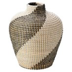 ショッピング置物 かご カゴ 籠 バスケット 店舗什器 おしゃれ かわいい 可愛い アジアン 和風 シンプル ナチュラル 編み シーグラス 丸型 ラウンド つぼ型 壺がた 深い 深型
