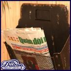 DULTON ダルトン ニュースペーパーボックス レターケース 新聞入れ 郵便物入れ ポスト マガジンラック おしゃれ レトロ アンティーク調 アイアン製 壁掛け