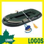 ショッピングロゴス ボート ロゴス LOGOS TRAIL BLAZER BOAT 240cm 船 ゴムビニール2人用 二人用 ロープ付き オール付き フットポンプ付 アルミオール 6気室 キャンプ アウトドア