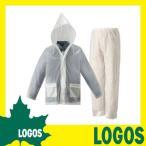 ロゴス LOGOS レインスーツ レインコート レインウェア 雨合羽 カッパ 雨具 撥水 防水 メンズ レディース メッシュ パンツ 軽量 透明 フード 上下 ジャケット