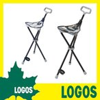 デザインステッキチェア 折りたたみ椅子 ステッキ型チェア 折りたたみチェア アウトドア LOGOS ロゴス おしゃれ 軽量 コンパクト カモフラージュ柄 カモフラ柄