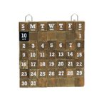 LIFE WITH E.D.G.E WOOD MAGNET CALENDAR S カレンダー 万年カレンダー 永年カレンダー 壁掛けカレンダー インテリア雑貨 壁飾り マグネットカレンダー