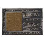 RUBBER COIR MAT MANHATTAN 玄関マット エントランスマット 屋外玄関マット ラバーマット コイヤーマット ステップ 屋外用玄関マット 新築祝い ギフト