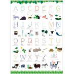 ABC NAME POSTER ポスター アルファベットポスター フランス語ポスター インテリア雑貨 ディスプレイ雑貨 A2サイズ おしゃれ 可愛い かわいい 北欧