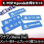 ワナワン ( Wanna One )/ メンバー別 ネームプレート 13個セット! ( wannaone 名札 K-POPグッズ ハングルネームプレート ハングル