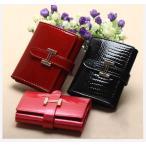 財布 3つ折り財布 クロコダイル 牛革 ウォレット プレゼント 人気 女性用 ロングウォレット ピンク オシャレ 可愛い カード入れ 小銭 シンプル