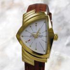ハミルトン ベンチュラ レディ 60周年記念モデル ゴールド レザー H24101511 【NEWモデル】