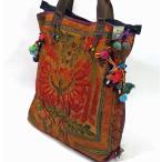 モン族、刺繍布地トートバッグmba023