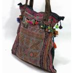 モン族、刺繍布地トートバッグmba024