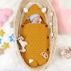 Qinhum ベビーニット寝袋 赤ちゃん布団 ベビー寝袋 0-12ヶ月 メリヤス生地 春秋冬対応 新生児のおくるみ毛布 フード付き ベビーカ