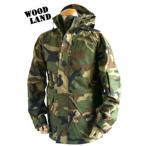アメリカ軍 ECWCS-1ジャケット/ゴアテックス風パーカー〔Sサイズ〕 透湿防水素材 JP041YN ウッドランドカモ(迷彩)〔レプリカ〕