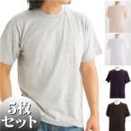 Tポイント15倍/5枚セットTシャツ 5色セット Mサイズ