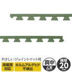 極厚ジョイントマット 2cm 大判 〔やさしいジョイントマット ナチュラル 極厚 真中用サイドパーツ 6本セット ラージサイズ(60cm×60cm) 畳(たたみ)柄