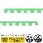 やさしいジョイントマット 角用サイドパーツ 4本 ラージサイズ(60cm×60cm) ミント(ライトグリーン)単色 〔大判 クッションマット カラーマット 赤ち