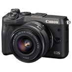 キヤノン 小型一眼カメラ 1本レンズキット(標準ズーム) EOS(イオス) EOSM6-1545ISSTMLK(BK) ブラック
