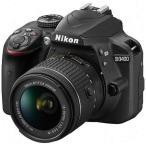 ニコン 一眼レフカメラ 1本レンズキット(標準ズーム) D3400LK(BK) ブラック