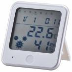 オーム電機 デジタル温湿度計 TEM-300-W ホワイト