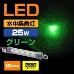 LED 集魚灯 水中集魚灯 ミニサイズ 発光色:グリーン SMD×144発 25w 12v専用 13ヵ月保証