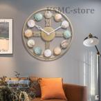 おしゃれ 壁掛け時計 鉄芸製 北欧 カフェインテリア 電池式 掛け時計 カッコイイ 天然の貝殻のデザイン カワイイ 時計 静か 音がしない 部屋装飾 -0027