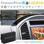 地デジチューナー フルセグチューナー 車載用 フルセグ/ワンセグ 自動切換/4アンテナ 4チューナー HDMI USB/SD アップデート対応 _43172