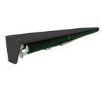 オーニングテント カバー 4m 黒 後付可能 日焼け防止 日よけカバー  _71080