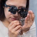 ルーペ メガネ LED ヘッドルーペ 拡大鏡 10倍 15倍 20倍 25倍 軽量 LEDライト 虫眼鏡 めがね 眼鏡 メガネルーペ 折りたたみ _75146