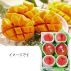 お中元 もも フルーツ山梨県産桃4玉とアップルマンゴー2玉果物 旬 送料無料 2020