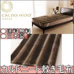 CALDO NIDOnotte カルドニード 敷き毛布 ダブルサイズ / 送料無料 寝具 しんぐ もうふ あたたかい 布団 ふとん 防寒 ブラウン 茶色