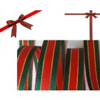 ショッピングリボン 1Mカット売り10MM巾クリスマスリボン  MFFS1022