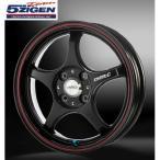 5ZIGEN Pro Racer FN01R-C α /カラー: ブラック+レッドライン / 15インチ 5.0J / 穴数:4 / PCD:100
