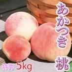 あかつき 桃 特秀 中玉 5キロ 13〜16玉 白鳳×白桃の品種 もも